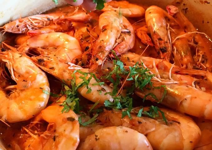 Hot & Spicy Peel & Eat Mediterranean-Inspired Shrimp with Herbes de Provence