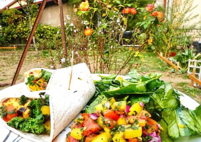 Wraps poulet et légumes du soleil
