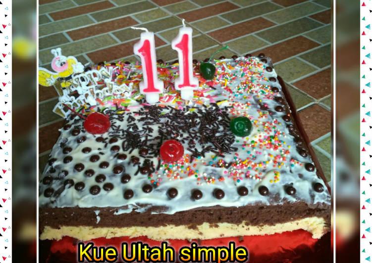 Resep Kue Ultah (Brownies Vanila Coklat) yang Lezat Sekali