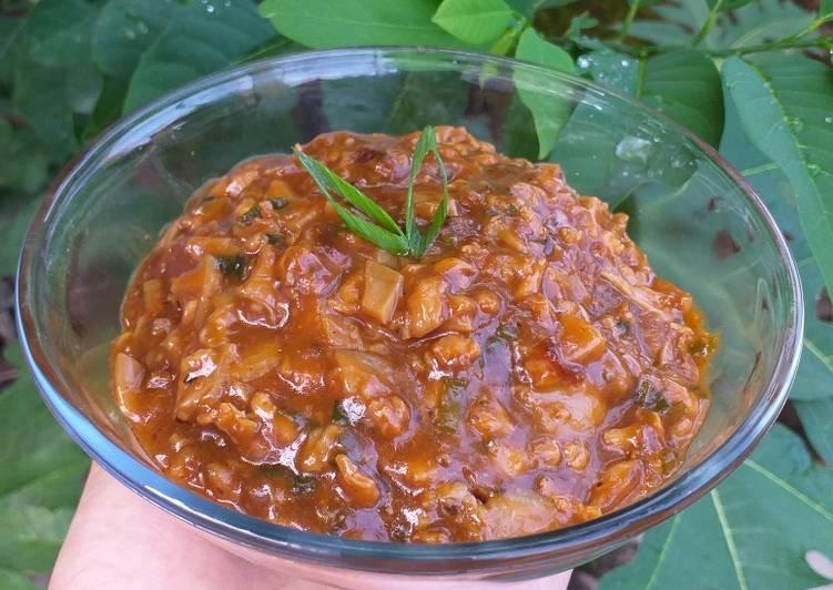 Resep Ayam Jamur Isian Pao/Roti Paling Mudah