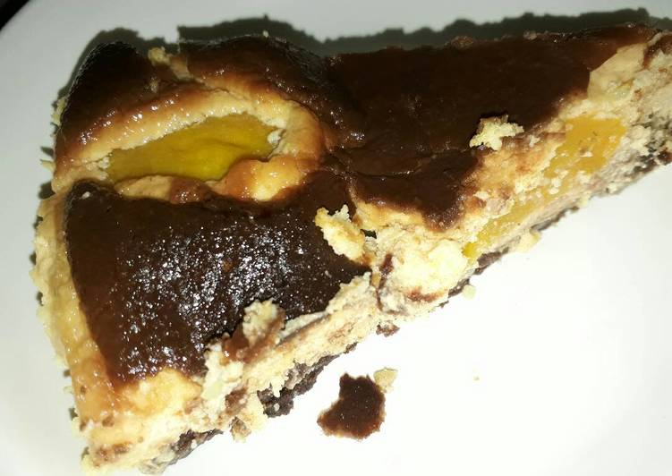 Baked Peach Orange Cheesecake