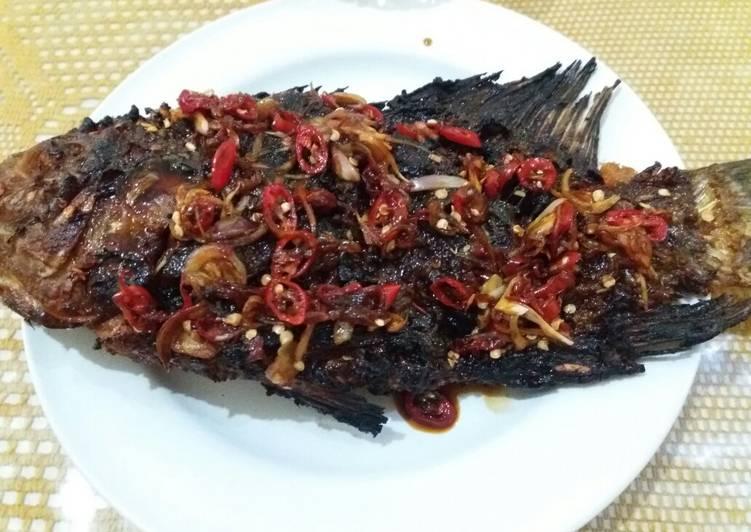Ikan bakar goreng kering