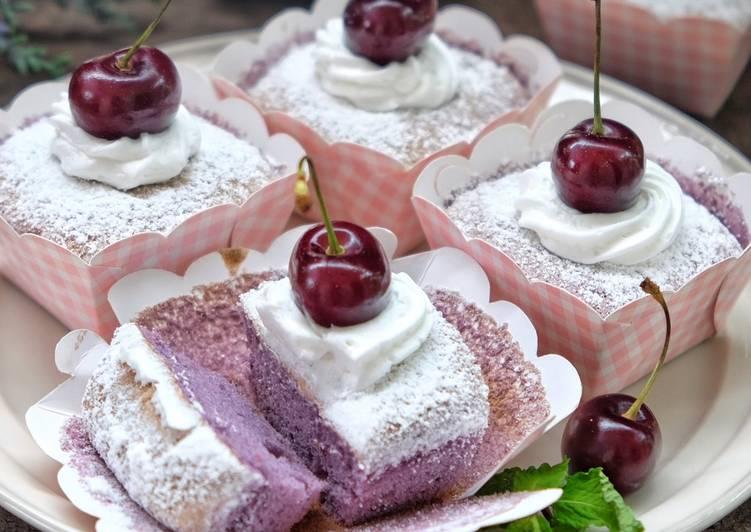 Taro Hokkaido cupcake