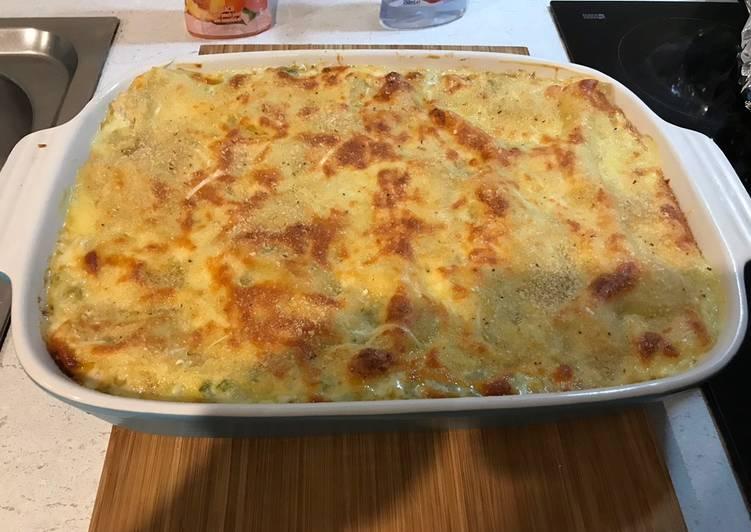 Cream chicken lasagna
