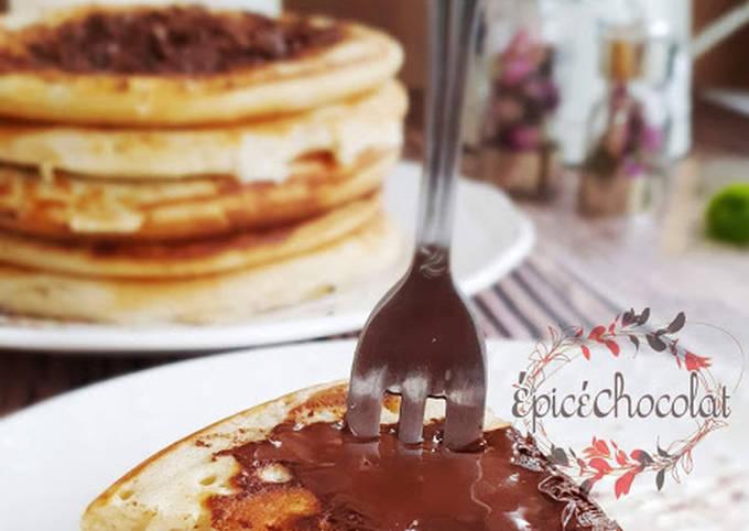 Pancakes américains au levain et chocolat