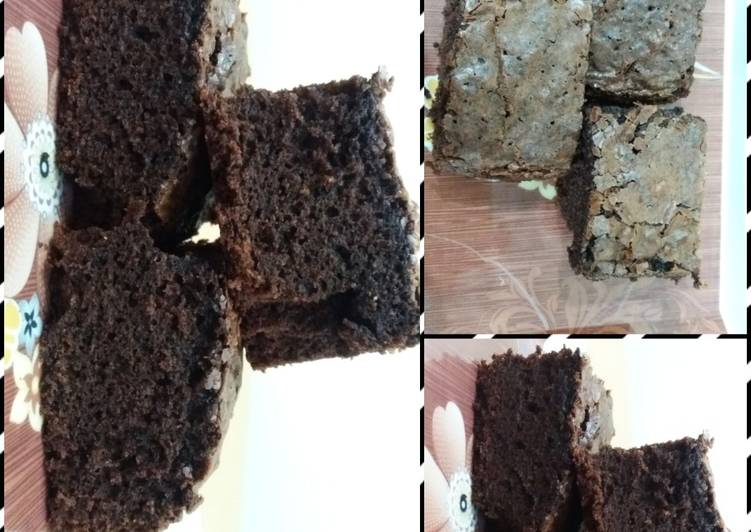 Steps to Make Quick Chocolate  fudge brownies