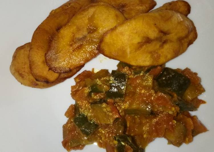Breakfast leftover eggplants curry and plantain#Author marathon