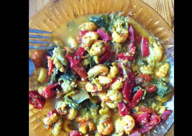 Comment faire Faire Parfait Crevettes sautées aux poireaux poivrons et curry