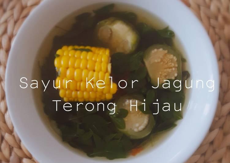 Resep Sayur kelor,jagung dan terong hijau