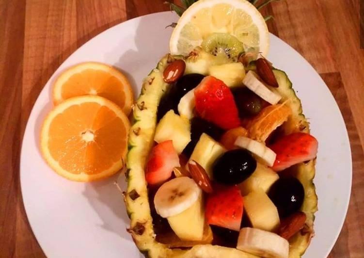 Simple Way to Make Favorite Pineapple bowl fruit salad