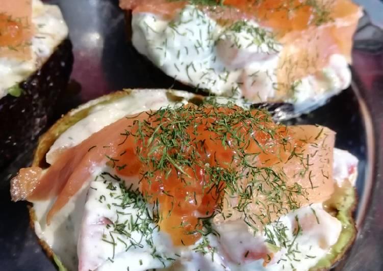 Avocat fraîcheur au saumon fumé