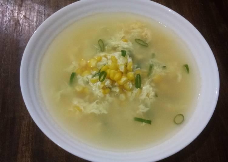 Sup Jagung Telur untuk kita dan untuk ibu menyusui
