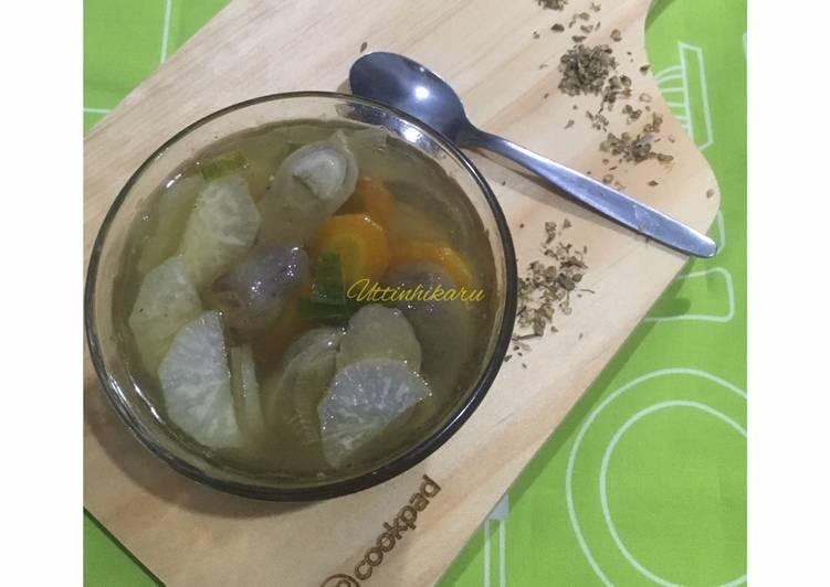 Sup Lobak Jamur