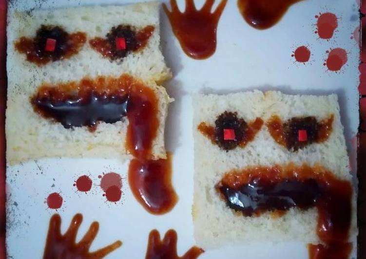 Try Using Food to Boost Your Mood Spooky bread slices