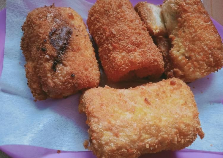 Roti goreng isi coklat & keju