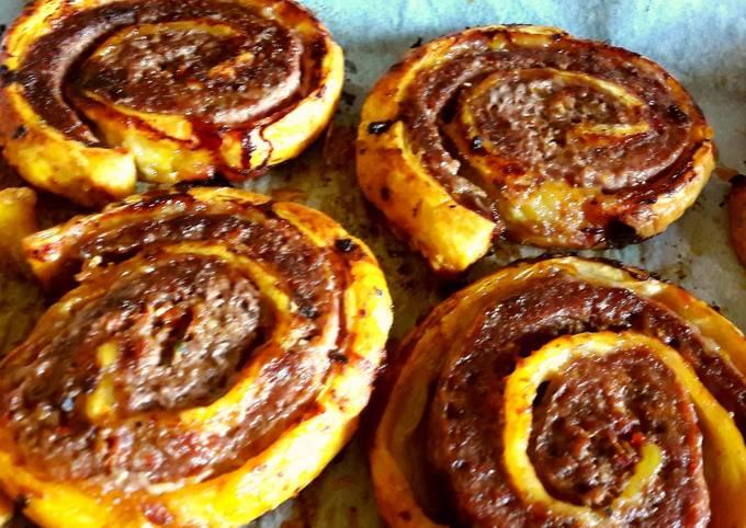 My Italian beef whirls