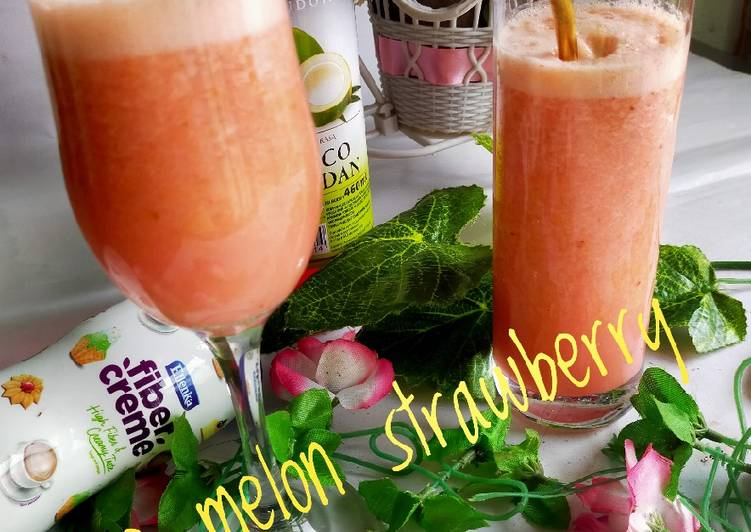 Juice melon strawberry