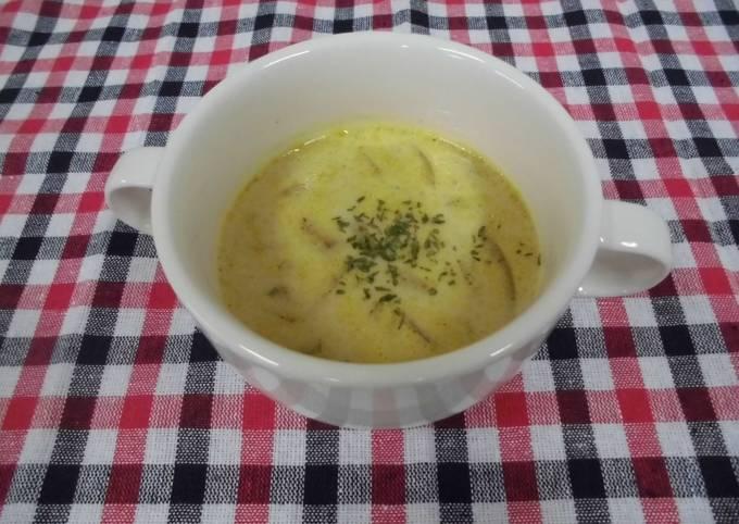 Onion curry soup