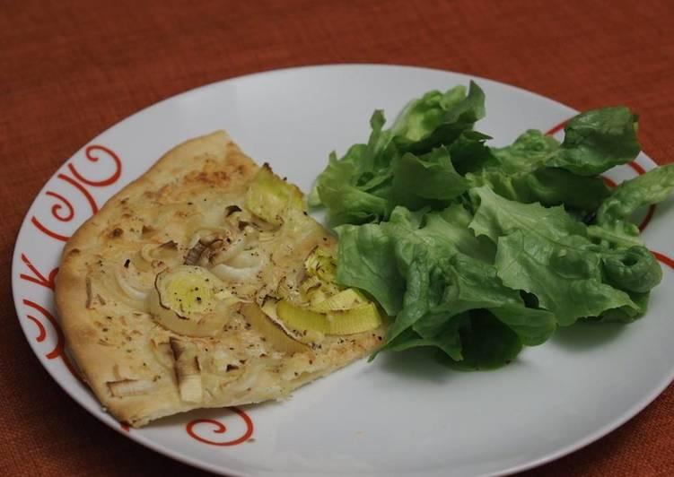 Recette  Pizza Poireaux Chèvre