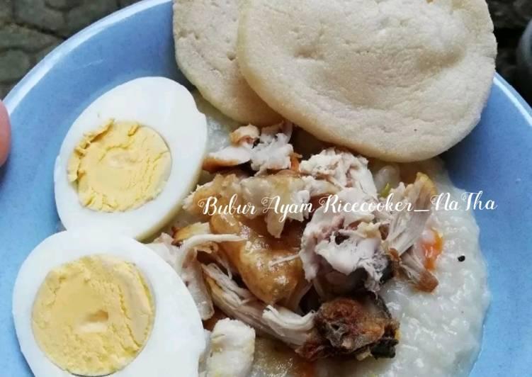 Resep Bubur ayam ricecooker yang Menggugah Selera