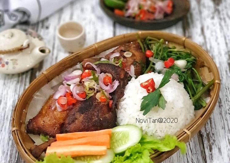 140. Bebek Bengil Sambal Matah / Dirty Duck Khas Bali