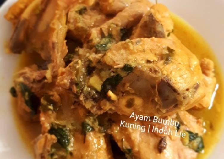 Ayam Bumbu Kuning Manado ala Indah