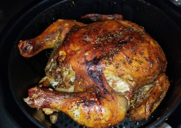 Whole chicken in airfryer