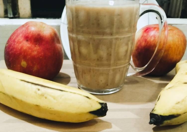 Steps to Prepare Homemade Banana smoothie