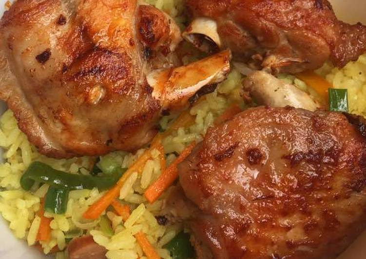 Fried rice with turkey