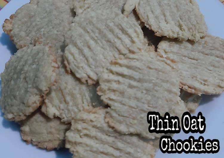 11. Thin oat cookies 💕