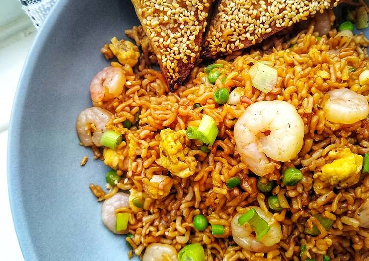 Shrimp Fried 'Rice' (Konjac)