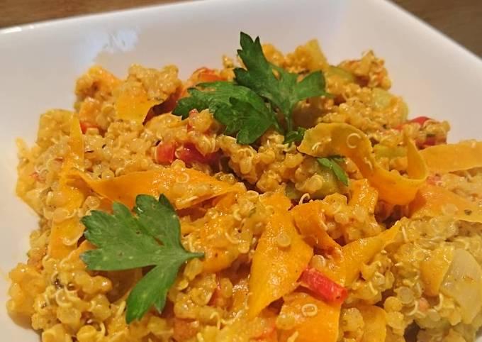 Curry de quinoa aux légumes