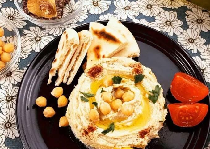 Delicious Hummus made with Shiitake powder