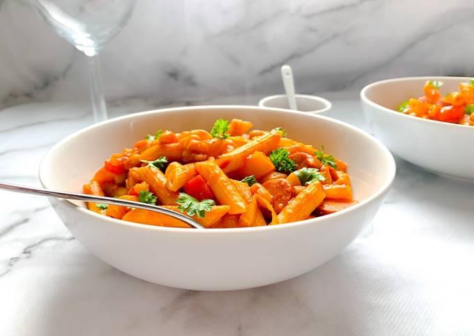 Sausage and bean pasta