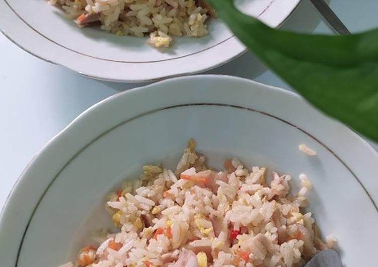 Nasi goreng mentega (tanpa bumbu uleg)