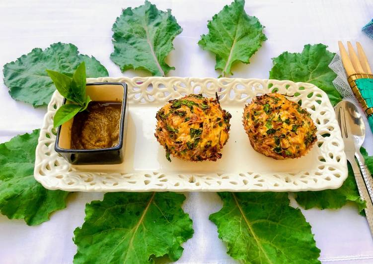 Steps to Make Homemade Kale Noodle Quiche Cups