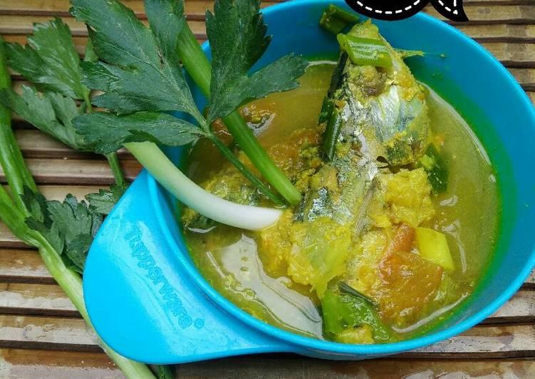 Menu anak 1th+ Sayur kuning ikan kembung