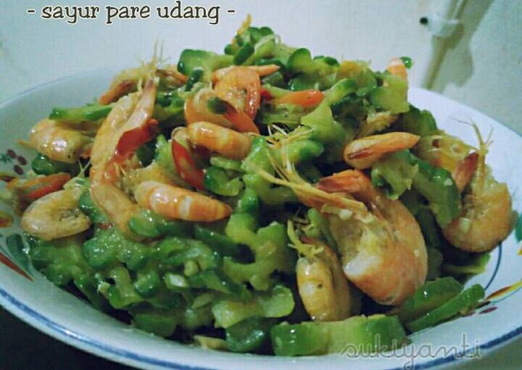 Sayur pare feat. Udang