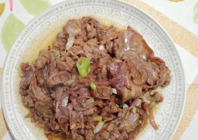 Beef Yakiniku ala Yoshinoya