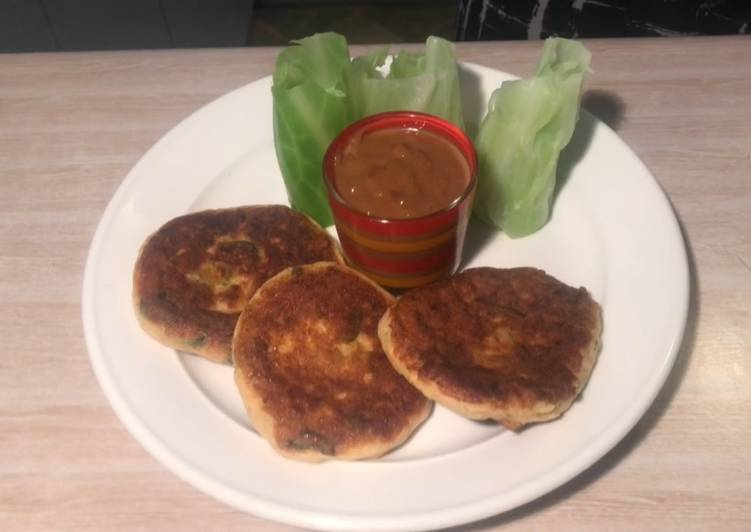 Step-by-Step Guide to Prepare Homemade Fish cake with Cabbage wrapper and Satay sauce