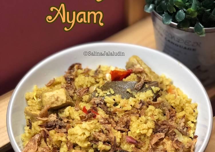 Nasi Beriani Ayam (Asal Jadi)