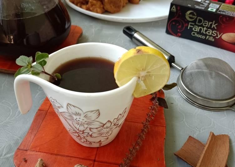 Easy Comfort Dinner Ideas Vegan Ginger and lemony black tea