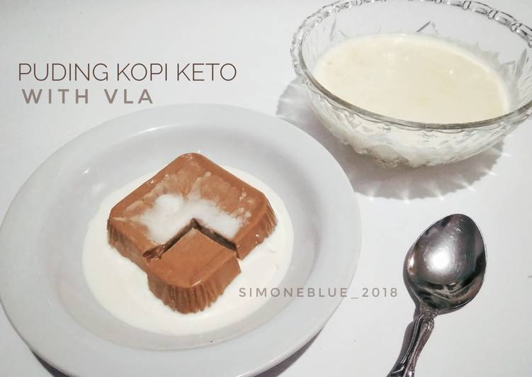 Puding Kopi Keto with Vla #ketopad