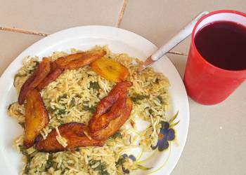 How to Prepare Yummy Jallop rice  plaintain