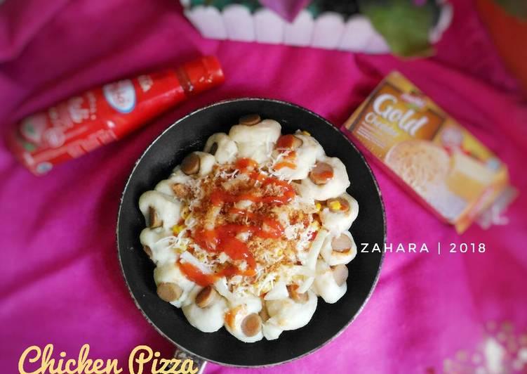 Chicken Pizza (Teflon & Eggless)
