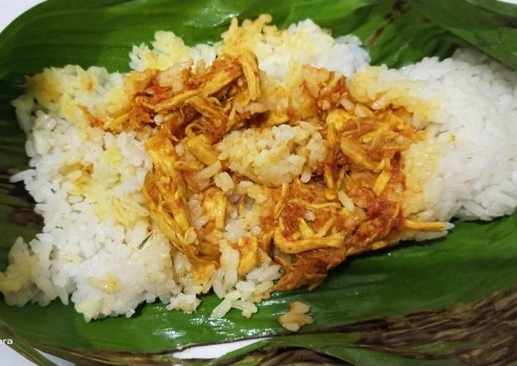 Ayam suwir untuk Nasi bakar