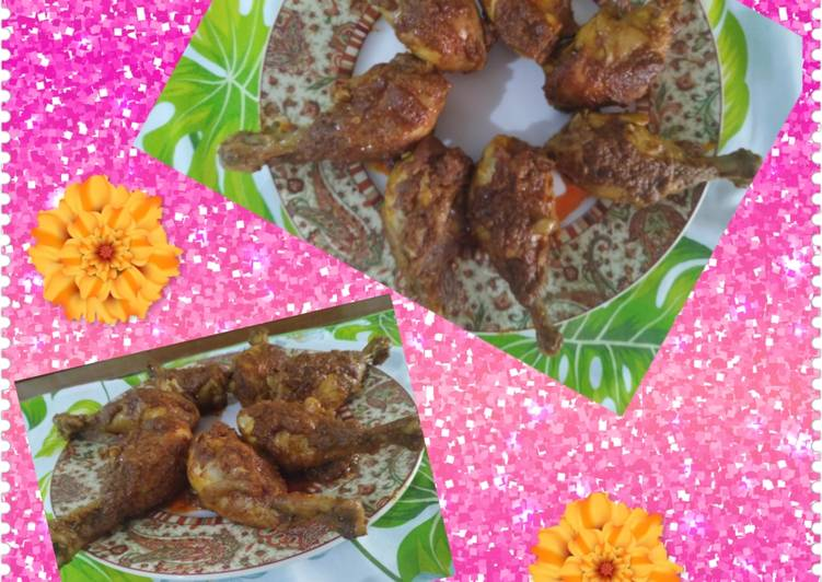 Cara menyiapkan Ayam Bumbu Rendang  yang Enak Banget