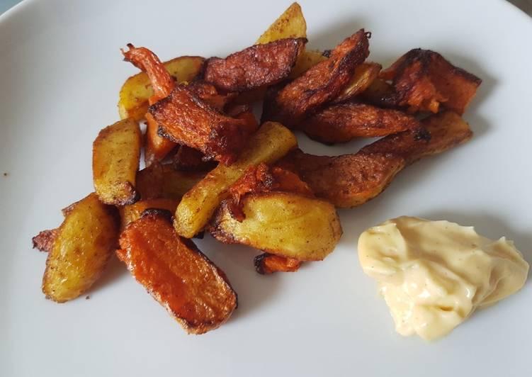 Frites de courges et pommes de terre