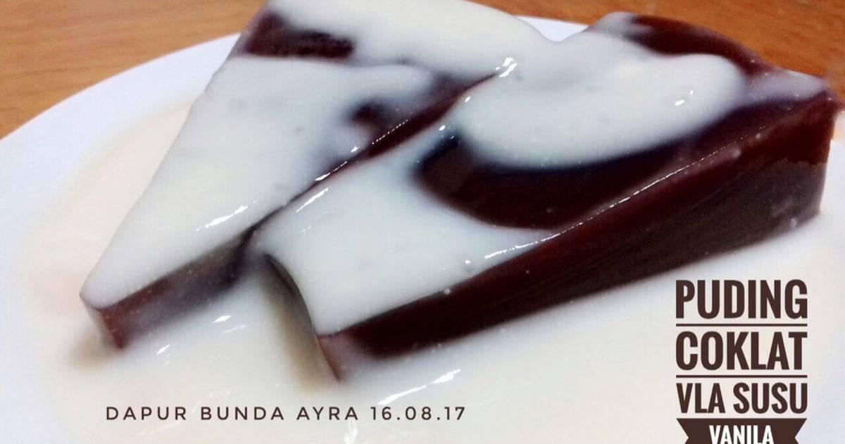 Resep Puding Coklat Vla Susu Vanila Oleh Uray Windy Cookpad