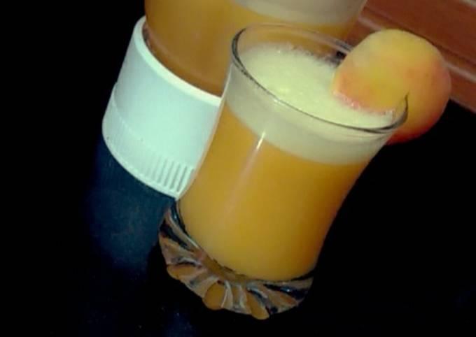 Peach soda juice